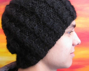 Bulky Alpaca Hat pattern for girls and guys