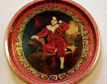 Vintage Tin Tray RED BOY DESIGN or Master Lambton Painting