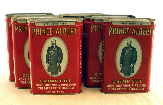 PRINCE ALBERT Vintage Pipe and Cigarette Tobacco Tin Collection