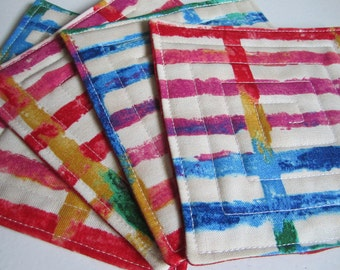 Quilted Coasters - Multi Colour