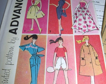 1961 BARBIE Sewing Pattern by Advance Group A UNCUT and Complete