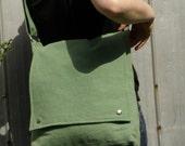 Sage Green Messenger Bag - Unisex