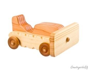 Natural & Organic Wooden Toy Bulldozer