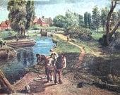 Papergoods. Vintage. Art . Print.18th Century Engish Landscape. Reproduction  Constable Print .Vintage Art .