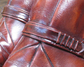 1970s Vintage Tan Leather Handmade Shoes