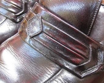 1970s Vintage OxBlood Leather Handmade Shoes