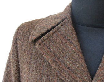 Brown Wool and Cashmere 1950's Vintage Overcoat