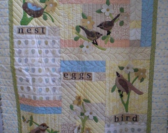 Bird quilt  Wall Hanging