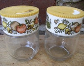Vintage Shakers Pair Spice of Life, 1970s Harvest Gold, Table Top, Table, Home Decor, Cottage Chic, Collect