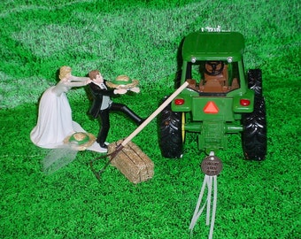 metal tractor wedding cake topper unique barn farm wedding related items etsy 17269