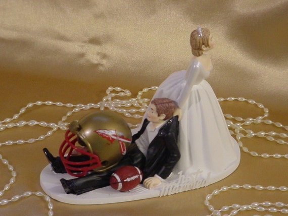 florida state wedding cake toppers college football florida state seminoles dragging groom 14327