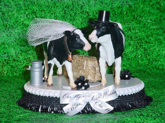 Items Similar To Cow Wedding Cake Topper Country Western