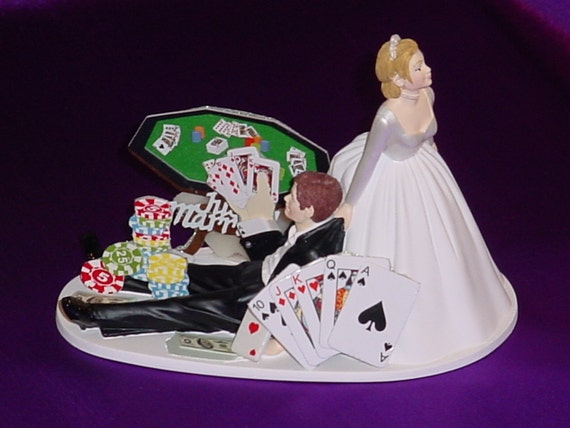 las vegas wedding cake topper items similar to las vegas themed wedding cake topper 16725