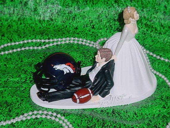 wedding cake toppers denver co items similar to denver broncos football fan sports 26450