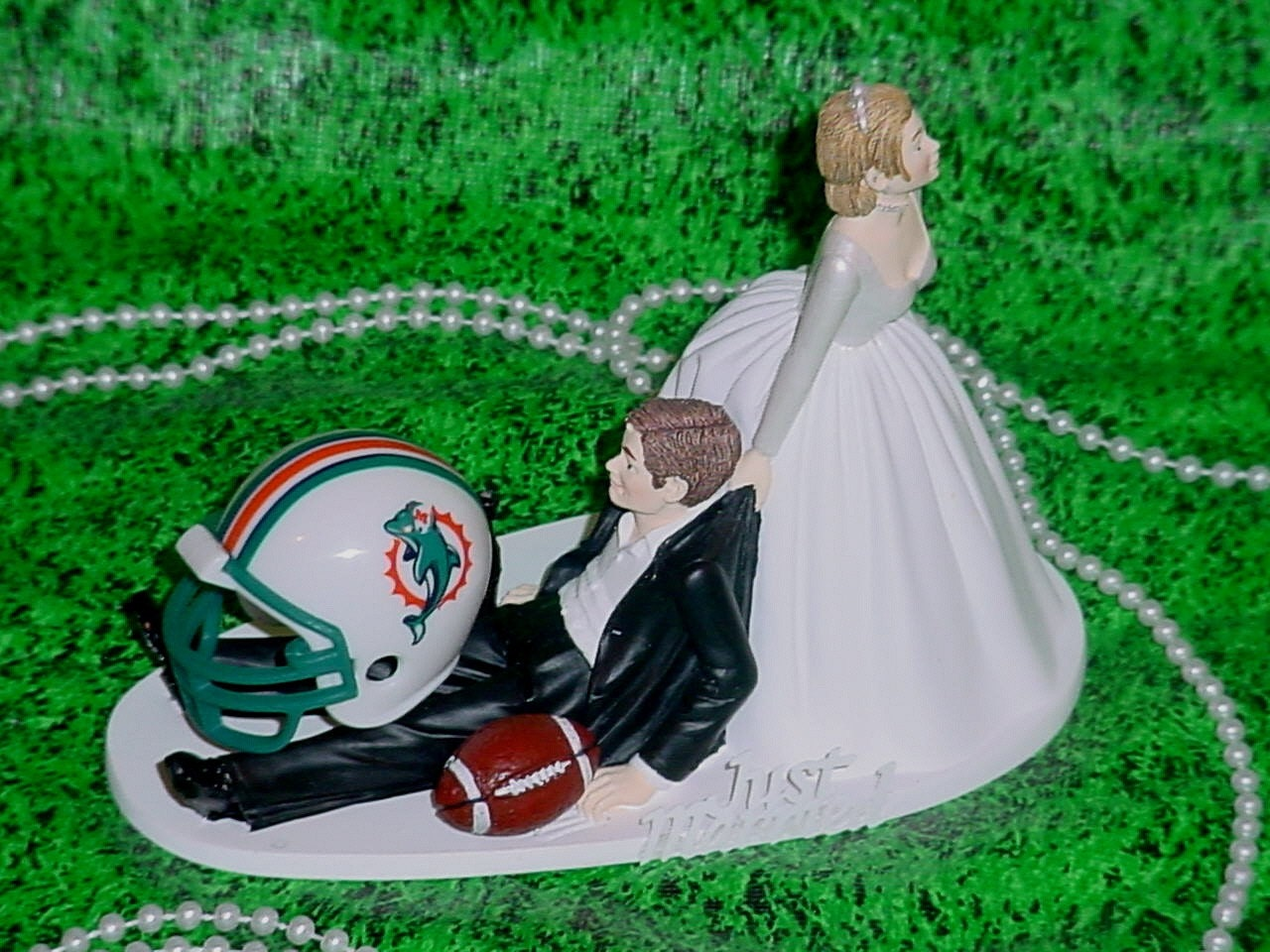 miami dolphin wedding cake toppers miami dolphins football fan sports wedding cake topper nfl 17330