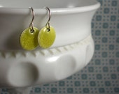 Sterling Small Earrings - citron enamel