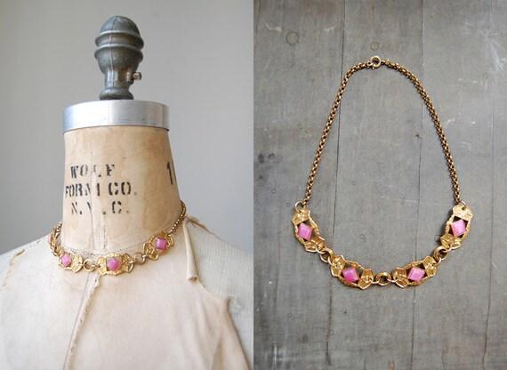 vintage art deco necklace / vintage necklace / vintage 1920s necklace