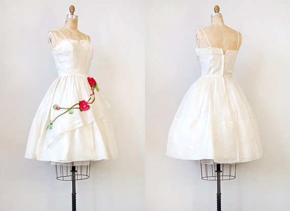vintage 1950s dress / vintage wedding dress / vintage 50s bridal prom party dress