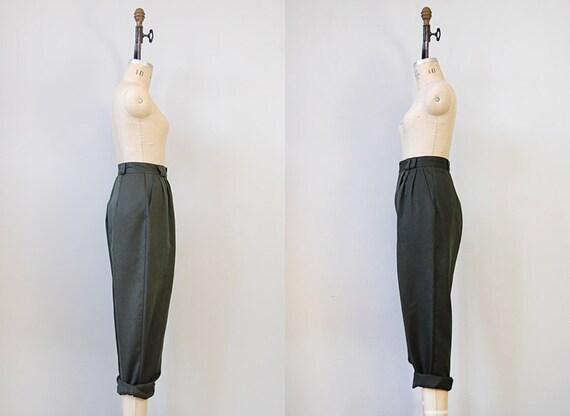 RESERVED ... vintage trousers / vintage 60s hunter green pants / vintage slacks