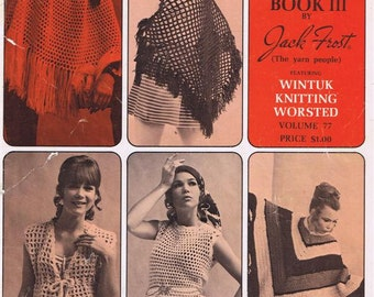 Gypsy Vest Vintage 1970s Style Accessories Shawl Poncho Stole Scarf Dress Skirt Lace Teen Sizes Crochet Craft Pattern Leaflet III Volume 77