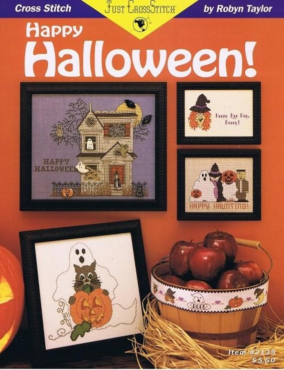 Happy Halloween Cross Stitch Embroidery Pattern Craft Leaflet 2139