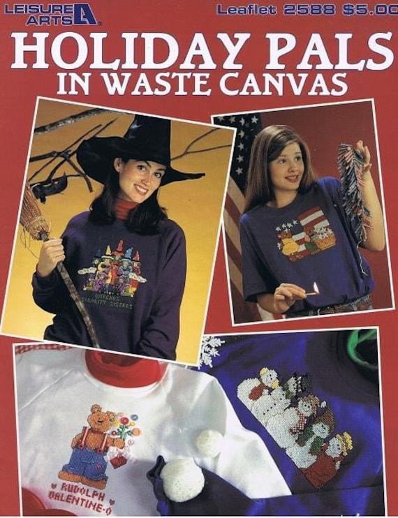Holiday Pals Needlepoint Waste Canvas Craft Pattern Leaflet 2588