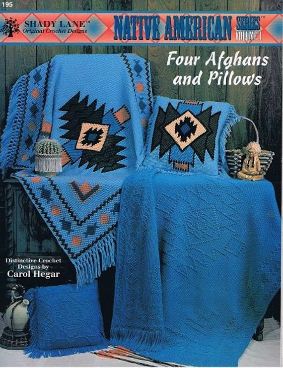 Crochet Patterns Native American : Native American Afghans and Pillows Crochet Patterns Craft Leaflet