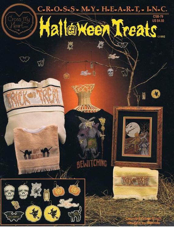 Halloween Treats Cross Stitch Embroidery Craft Pattern Leaflet