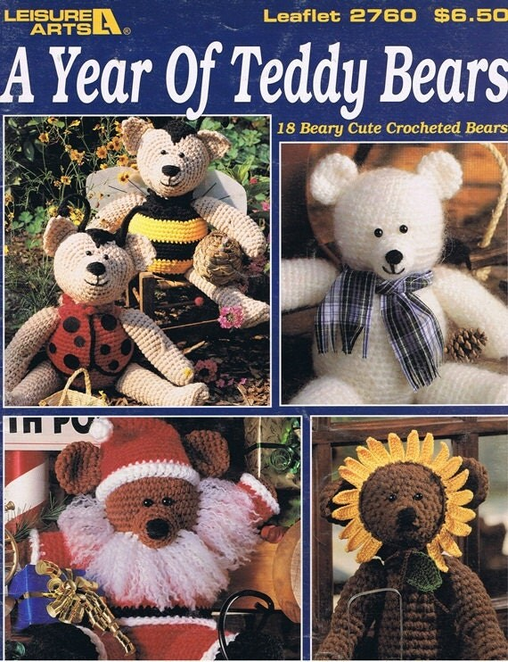 Year of Teddy Bears Crochet Craft Pattern Leaflet 2760 Leisure Arts