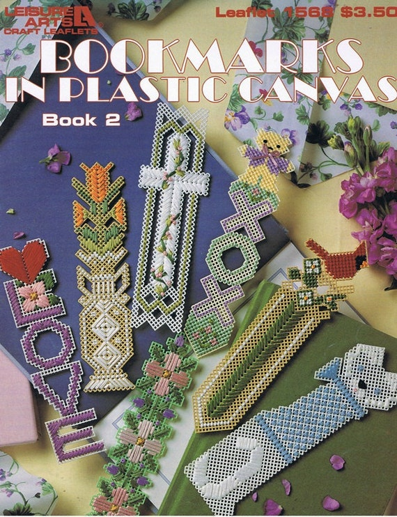 Bookmarks in Plastic Canvas Book 2 Embroidery Craft Pattern Leaflet 1568 Leisure Arts