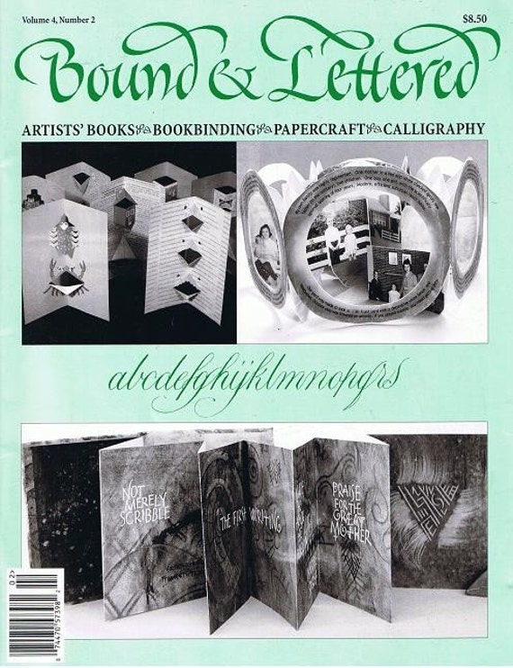 Bound and Lettered Altered Books Magazine Vol 4 No. 2 Paper Crafts Pop Ups Boxes Bookbinding Learn How to Do and Make