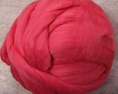 Roving  Merino Wool - Coral - 8oz