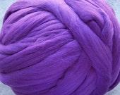 Wool Roving - Merino Wool Roving for Spinning and Felting - Purple - 8oz