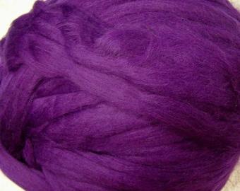 Merino Wool Roving, Wool Roving, Merino Roving, Wool, Felting Wool, Spinning Wool, Ashland Bay - Eggplant - 8oz