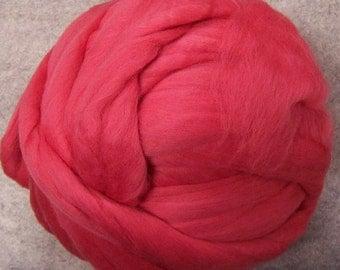 Merino Wool Roving, Roving, Merino Roving, Merino Wool, Coral Roving, Coral Merino Roving, Coral Roving - 7.8oz