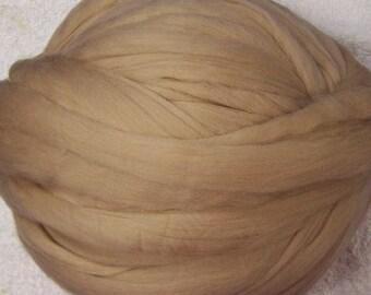 Merino Wool Roving - Wool Roving - Cafe Au Lait - 8oz