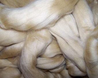 Wool Roving, Merino Roving, Felting Wool, Spinning Wool,  Merino Roving for Spinning and Felting - Camel Colorway - 8oz