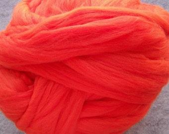 Merino Roving, Wool Roving, Merino Roving, Merino Wool Roving for Spinning or Felting  - Merino Wool Fiber - Spice - 8oz