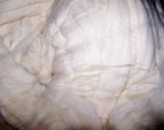 Superfine Merino Wool Roving Natural-Ecru - 8oz