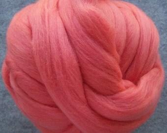 Wool Roving, Merino Roving, Roving, Felting Wool, Spinning Wool, Begonia Merino Wool Roving -8oz