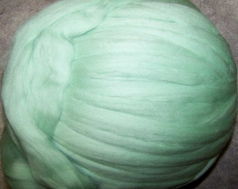 Merino Wool Roving Fiber for Spinning and Felting from Ashland Bay Fibers - Mint Wool Roving - 8 oz