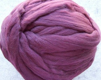 Roving Merino Wool - Wine - 8oz