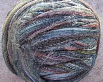 Merino Silk Roving, Merino Tussah Silk Multi Color Roving - McKenzie-8oz