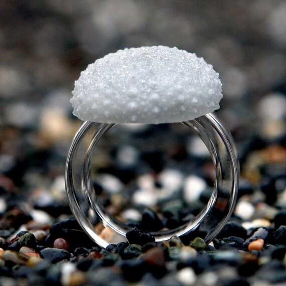 Sea Urchin Ring Modern Beach Jewelry Tropical Jewelry