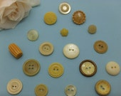 Unusual Vintage Yellow Plastic Buttons VB046