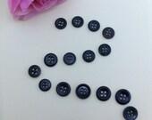 VB142 Mixture of 18 Black Vintage Buttons