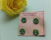 Imported Moonglow Green Vintage Buttons VB202
