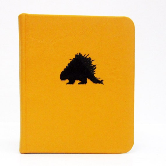 address book - yellow leather - porcupine