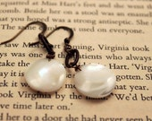Pearlescence - white mother of pearl  earrings