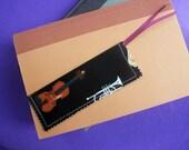 Violin Fabric Bookmark